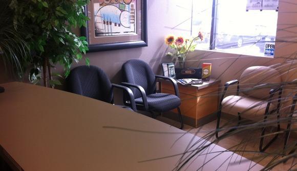 Lobby desk window