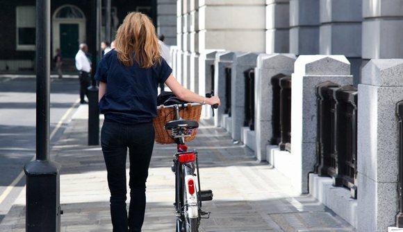 Bloomsbury girl with bike