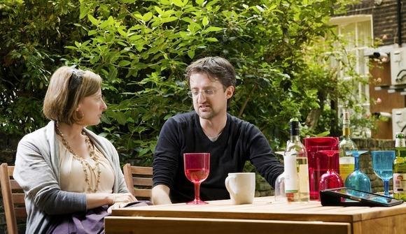 Talking in garden 2