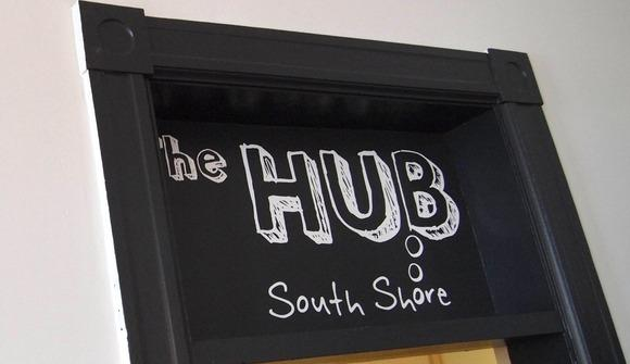 Hub door sign