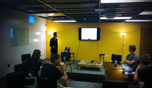 Dan presenting