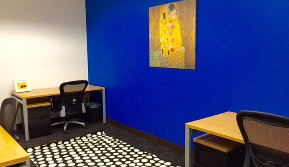 Office 818 blue wall