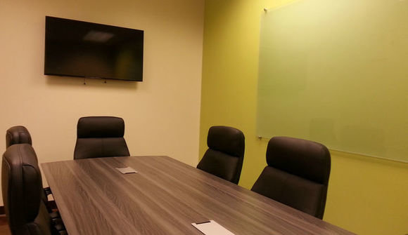 The industry studios cowork space conference room